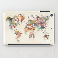 world map watercolor iPad Case