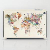 World Map Watercolor iPad Case