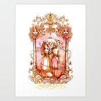 Much Ado About Nothing - Masquerade Ball Dancers - Shakespeare Illustration Art Art Print