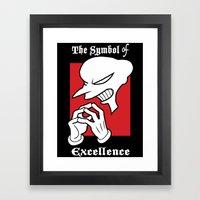 Symbol Of Excellence Framed Art Print