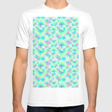 Geo Texture Mens Fitted Tee White SMALL