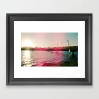White Rock Lake! Framed Art Print