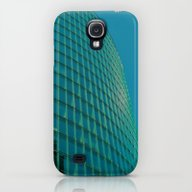 Teal Blue Abstract Galaxy S4 Slim Case