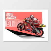 Eddie Lawson - 1991 Misa… Canvas Print
