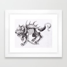 Demon Dog Concept Illustration Art Print Framed Art Print