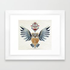 owl winter Framed Art Print