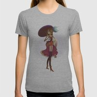 Pin Up Womens Fitted Tee Athletic Grey SMALL