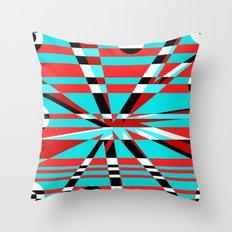 Grid Square TV Crazy Throw Pillow