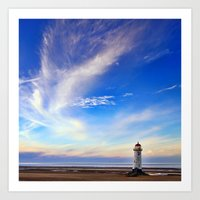 Lighthouse in Blue Art Print