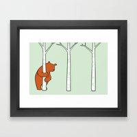 Shy Bear Framed Art Print