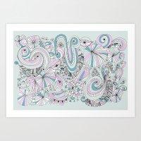 Doodle my feeling Art Print