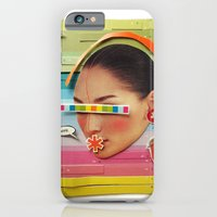 iPhone & iPod Case featuring What are the birdies saying? | Collage by Lucid House