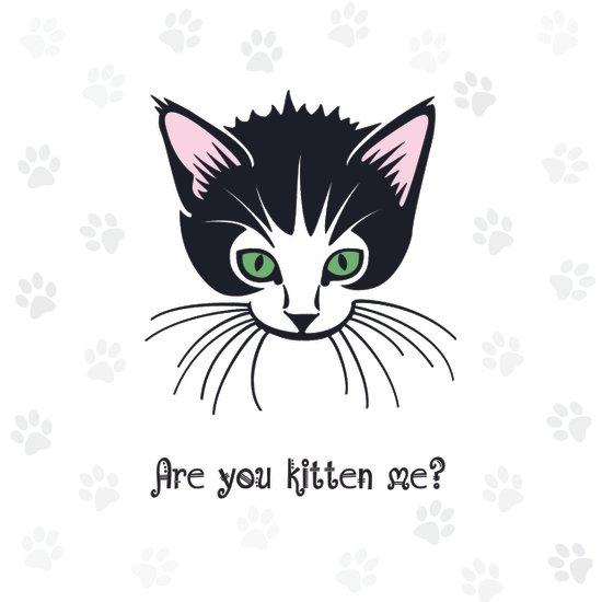 Are you Kitten Me? Art Print