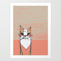 Cubist Cat Study #7 By F… Art Print