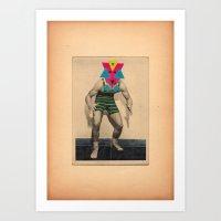 Il lottatore di altri tempi Art Print