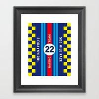 Indianapolis 500 Mile Racing Team Vintage Decoration Poster Framed Art Print