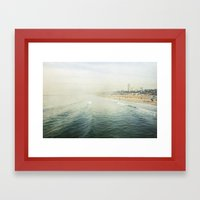 Santa Monica  Framed Art Print