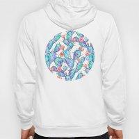 Rainbow Watercolor Cactus Pattern Hoody