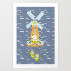 Windmill o'Clock Art Print