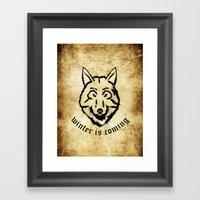Stark Wolf Framed Art Print