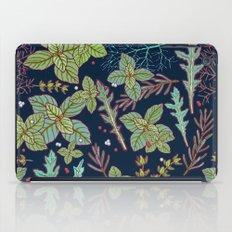 Dark Herbs Pattern iPad Case