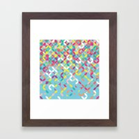 Giddy Geometric Framed Art Print