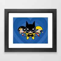 Supertough Girls Framed Art Print