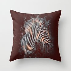 DARK ZEBRA Throw Pillow