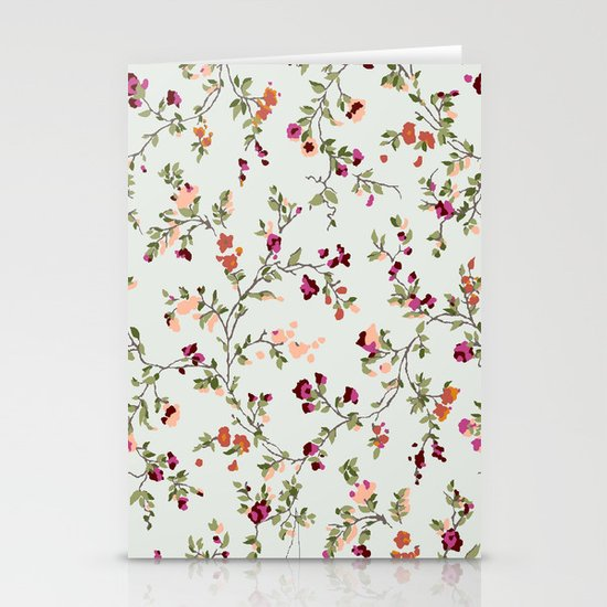 floral vines - neutrals Stationery Card