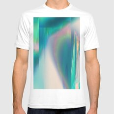 Pacifica glitch Mens Fitted Tee SMALL White