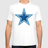 Blue Star Mens Fitted Tee White SMALL