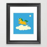 The Golden Unicorn Of Gl… Framed Art Print