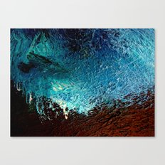 Abstract blue, white and purple painting photography Canvas Print