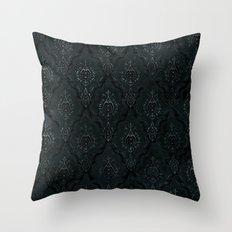 Victorian Onyx Throw Pillow