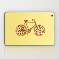 Bicycle with Pepperoni Pizza Tires Laptop & iPad Skin