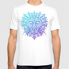 Heart of a Lion White Mens Fitted Tee SMALL