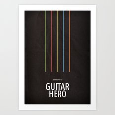 Harmonix's Guitar Hero Art Print