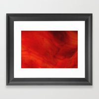 Red Glass Framed Art Print