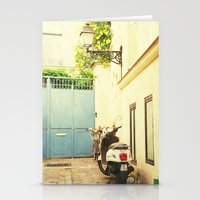 Montmartre Scooter Stationery Cards