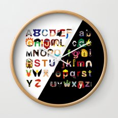Marvelphabet Wall Clock
