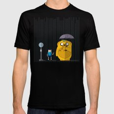 adventure time totoro SMALL Black Mens Fitted Tee