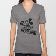 Unisex V-Neck featuring BOMBS AWAY by Tim Shumate