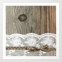 FRENCH LACE Art Print