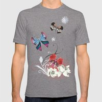 Butterfly Spring Mens Fitted Tee Tri-Grey SMALL