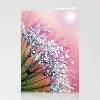 rainbow Stationery Cards featuring rainbow dandelion by Joke Vermeer