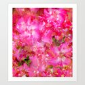 Bright And Cheery Geranium Abstract Art Print