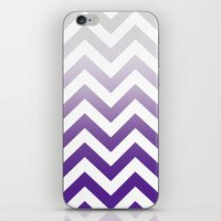 PURPLE FADE TO GREY CHEV… iPhone & iPod Skin
