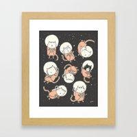 Cat-Stronauts Framed Art Print