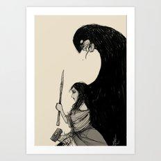 Huntress Sketch Art Print