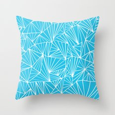 Ab Fan Electric Blue Throw Pillow